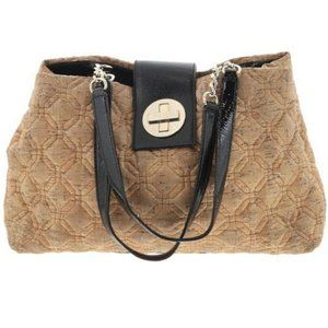 Kate Spade Bag Beige Quilted Cork Leather Trim